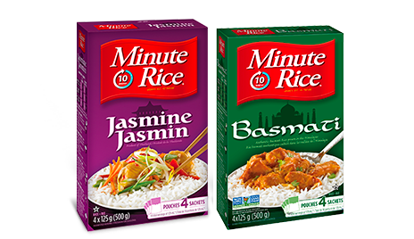 Package of Minute Rice Basmati and Jasmine